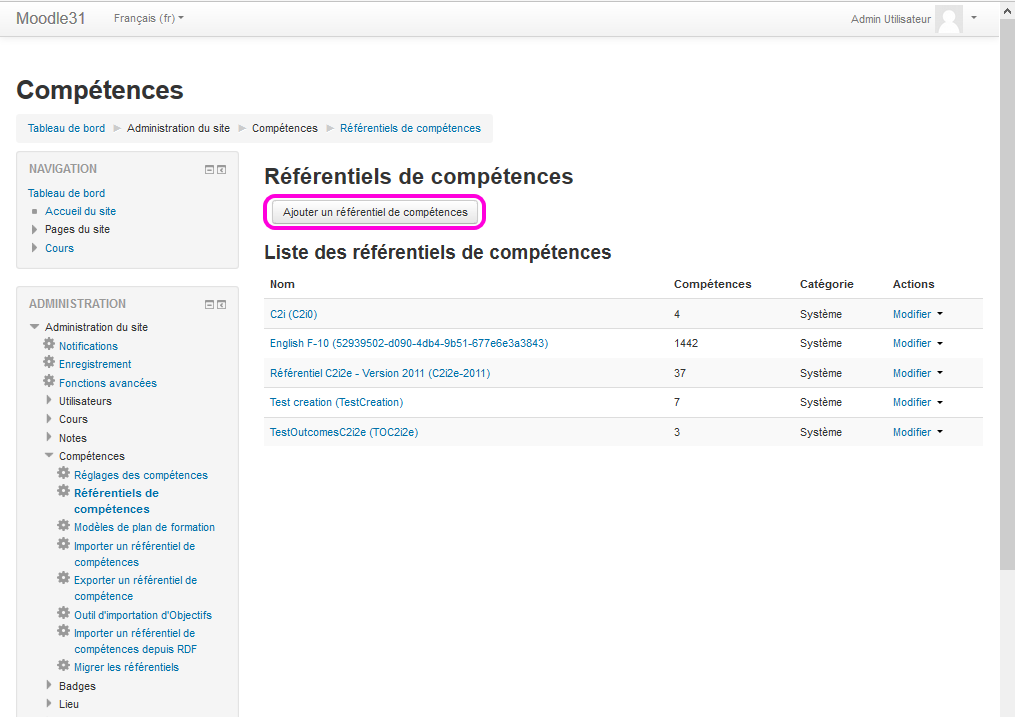 configurer_referentiel competences moodle