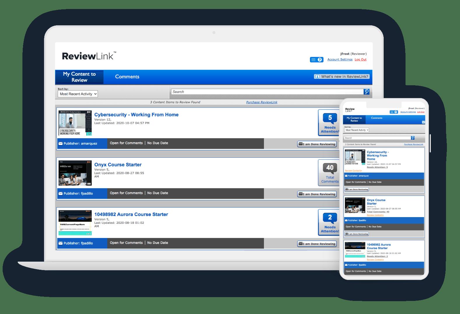 ReviewLink responsive