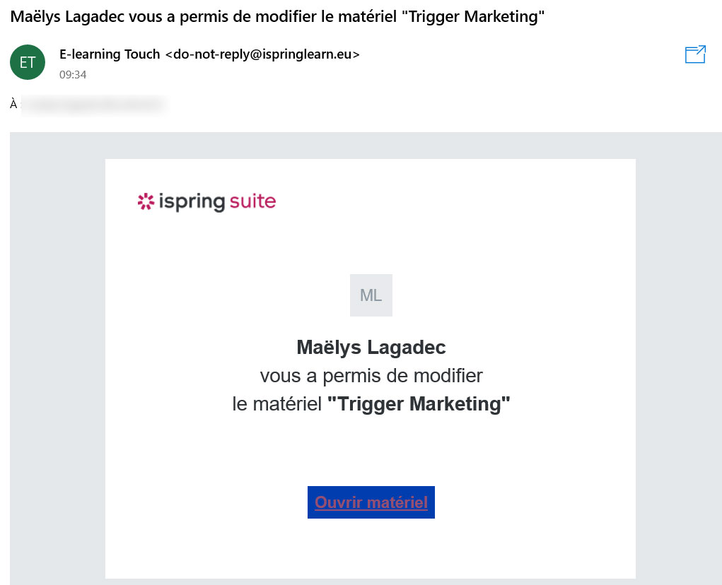 ispring quiz space partager mail
