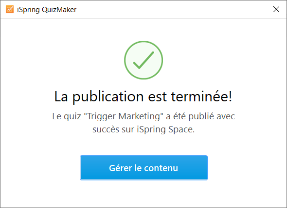 ispring quiz space publication terminee