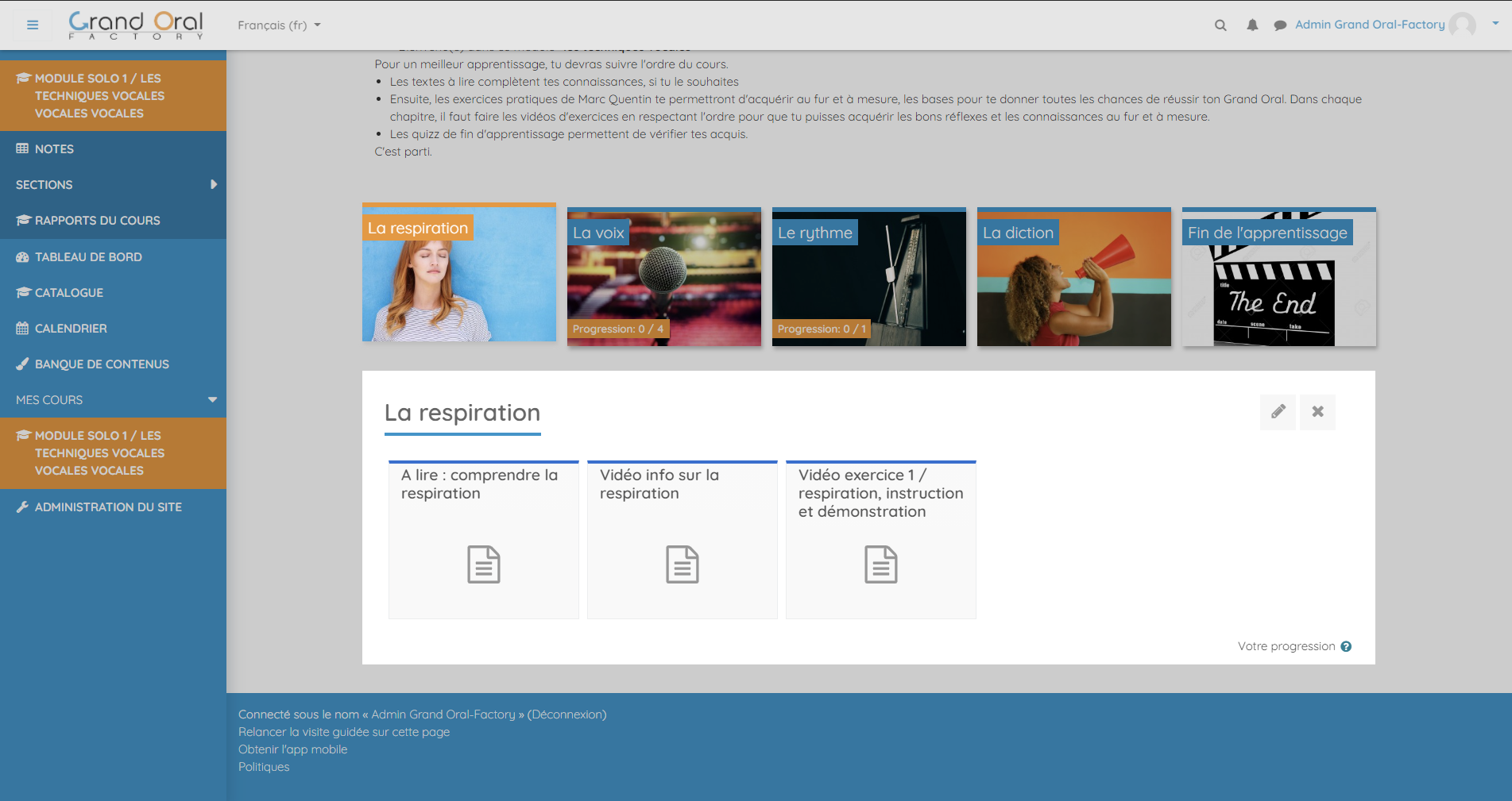 cours moodle tuile