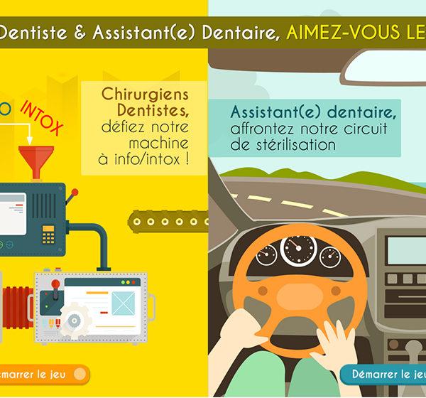 Double jeu chirurgiens dentistes et assistants dentaires