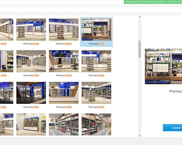 Bibliothèque de contenu iSpring : nouveaux personnages, emplacements et icônes – thème industrie pharmaceutique et immobilière