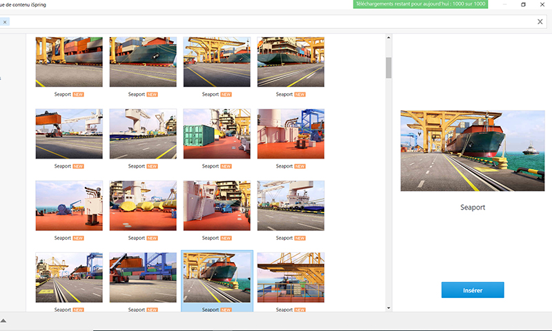 Bibliothèque de contenu iSpring : nouveaux personnages, emplacements et icônes – thème maritime