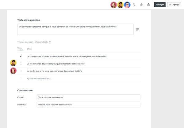 iSpring Space : Créez des quiz en ligne en collaboration simultanée