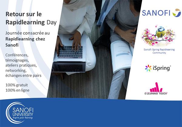 Collaboration Sanofi – E-learning Touch' pour une journée dédiée au Rapid Learning