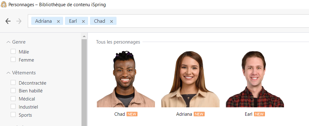 ispring personnages bibliotheque ordinaires