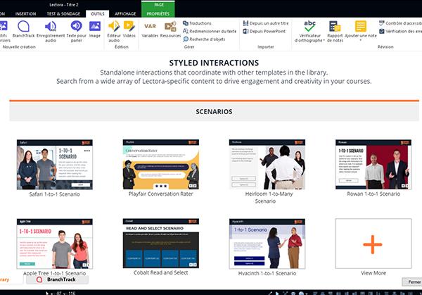 Sortie Lectora 21 : Des modèles de cours préconçus, pour développer rapidement des modules avancés