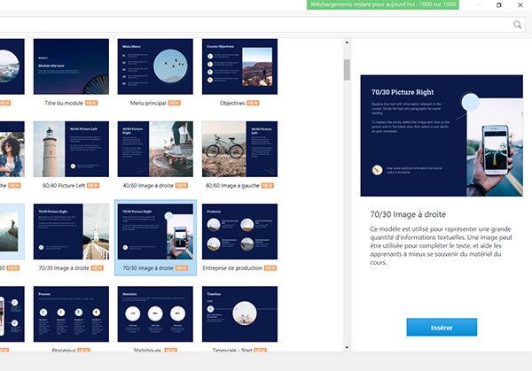 Bibliothèque de contenu iSpring : nouveaux éléments – thèmes service client, immobilier