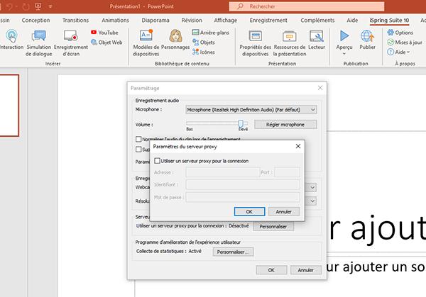Configurez iSpring Suite Max pour votre serveur proxy