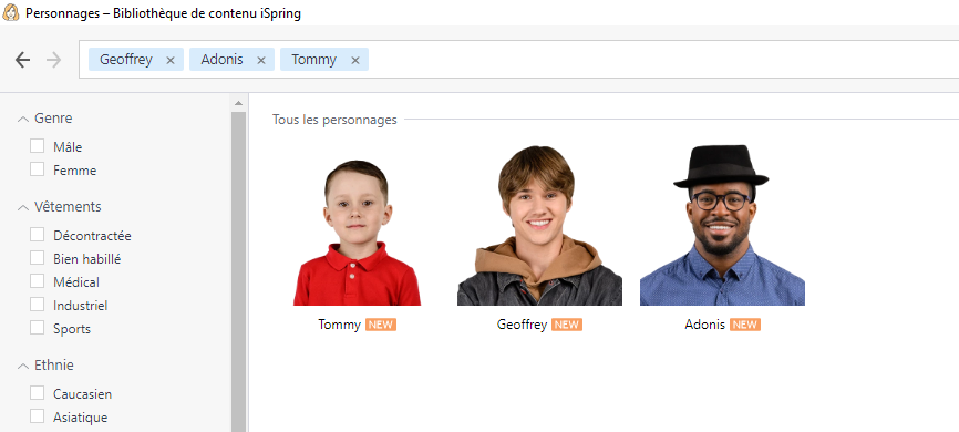 ispring suite max personnages scolaire